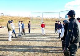 笠置産業野球部紅白戦・忘年会